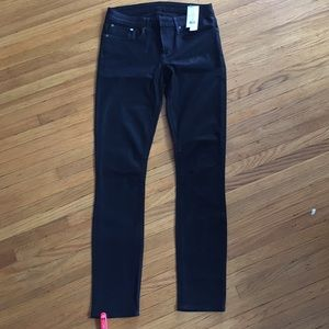 Helmet Lang high gloss black wash jeans size 27